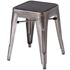 Artois hocker gun metal
