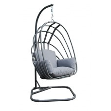 Suez foldable swing chair     carbon black/ licht grijs