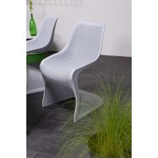 Bloom stoel                   zilver grijs