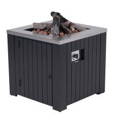 Cozy Living sfeerhaard Faro   carbon black aluminium / 80x80