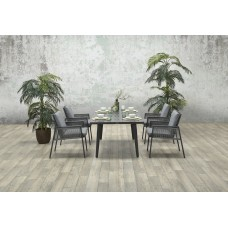 Andrea dining fauteuil c.bl./rope silv gr Ø8mm/l.grey