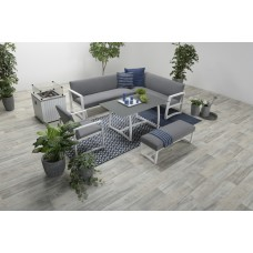 Aureum lounge dining set 4-dlg carbon black/ licht grijs