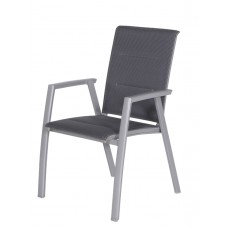 Gala dining fauteuil          carbon grey/antraciet gevuld