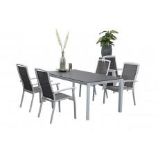 Saphir stapelbare stoel       mat wit/ antraciet
