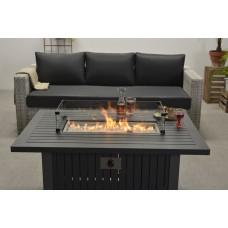 Cozy Living haard Albufeira   carbon black/ grijs 132x89xH61
