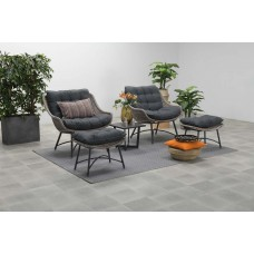 Logan fauteuil met voetenbank vintage willow