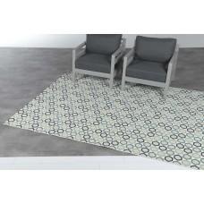 Hexagon karpet 160x230        green