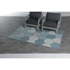 Hexagon karpet 120x170        turquoise