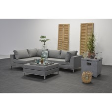 Prego lounge set 3-dlg links  arctic grey/ licht grijs