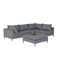 Prego lounge set 3-dlg rechts arctic grey/ licht grijs