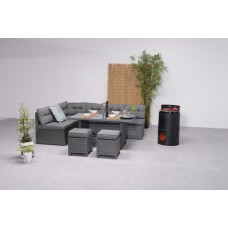 Coral lounge/dining set 5-dlg earl grey 8,4mm/ anthracite