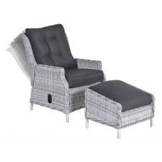 Veracruz relaxstoel+voetenbankcloudy grey H