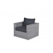Menorca lounge fauteuil       cloudy grey L-shape/refl.black