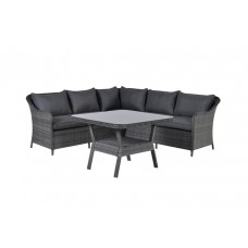 Boston lounge/dining set      earl grey 2-half/ anthracite