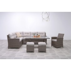 Aboyne lounge/dining set 5-dlgnew kubu 8,4mm/sand