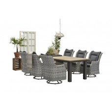 Osborne rocking fauteuil      cloudy grey 12x4,5/refl.black