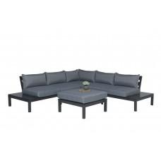 Annabella lounge set 4-dlg    carbon black/ reflex grey