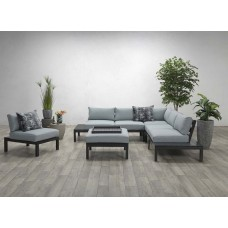 Annabella lounge set 4-dlg    carbon black/ olive grey