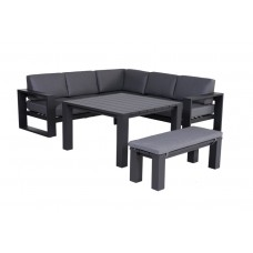 Cube lounge set 3-dlg         carbon black/ reflex black