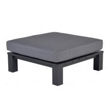 Cube lounge tafel 100x100xH30 carbon black/ reflex black