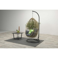 Panama swing chair egg        carbon bl./natu. rotan/ref.bl.