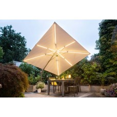 Hawaii Lumen parasol 300x300  carbon black/ taupe