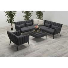 El Paso lounge set 4-dlg      carbon black/ antr. Sunbrella