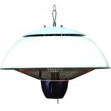 Bordeaux hangende heater 43CM mat white / 1500W