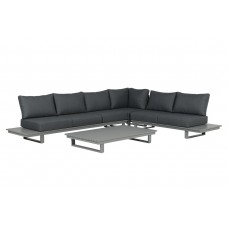 Amazone lounge set 4-dlg      arctic grey/ reflex black