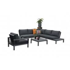 Michigan lounge set 4-dlg     arctic grey/ reflex black