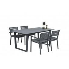 Oklahoma dining fauteuil      carbon black/ licht grijs