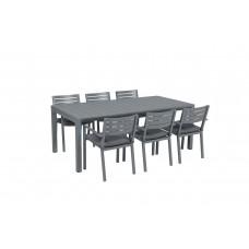 Oklahoma dining fauteuil      arctic grey/ reflex black