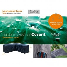 Coverit loungeset L hoes      227/301x80xH65