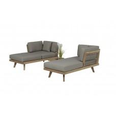 Austin lounge set 3-dlg       natural teak/ taupe