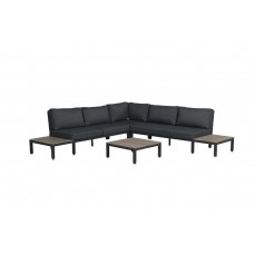 Amalfi lounge set 4-dlg       carbon black/ antraciet