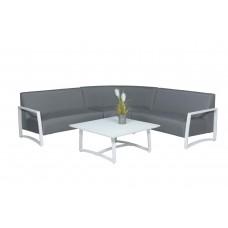 Coridon lounge set 4-dlg      wit/ licht grijs