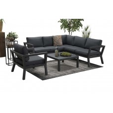 Colorado lounge set 3-dlg     carbon black/ reflex black