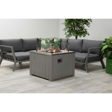 Cozy Living sfeerhaard Faro   arctic grey aluminium / 80x80